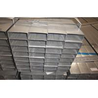 Buy cheap Rectangular Hot Dipped Galvanized Steel Pipe / Welded Tubing EN10219 Q195 product
