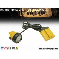 Buy cheap Yellow KL12LM 25000lux Mining corded miners Cap lamp 4 levels lighting with 12 ah battery product