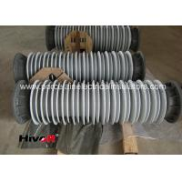110KV SF6 Breaker Hollow Core Insulators With Aluminum Flange Grey Color