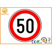 CE Reflective Round Traffic Warning Signs , Water Proof Diamond Road Signs