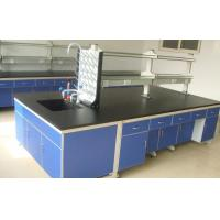 Buy cheap 3000 Mm White Steel - Wood Lab Benches Furniture For University Laboratory product