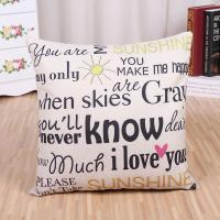 """Buy cheap Quote Words Pillow Case Cotton Linen Square Decorative Throw Pillow Covers Cushion Cover 18"""" x 18"""" ,Home Sweet Home product"""