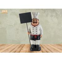 Buy cheap Decorative Fat Chef Statue Polyresin French Chef Figurine With Wooden Chalkboard from wholesalers