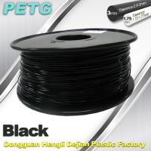 Buy cheap 1.75mm / 3.0 mm Temperature Resistance  PETG Black Filament  1.0KG / Roll product