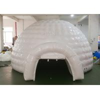 Buy cheap White Inflatable Igloo Tent Outside Diameter 4.8 Meter CE Certificated product
