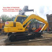 Buy cheap Flexible Second Hand Excavator , Komatsu Pc60 7 Excavator 6286 Kg Operating Weight product