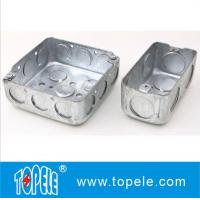 """Buy cheap 4"""" 1-1/2'' Deep Steel Square / Rectangular Conduit Outlet Junction Box , Electrical Boxes And Covers product"""