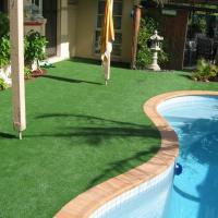 Buy cheap Green Synthetic Grass Around Pool Covering 25mm Pile Height 9000 Dtex from wholesalers