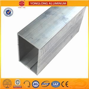 China Customized Size Aluminium Industrial Extrusion Tube Profile 6m Length on sale
