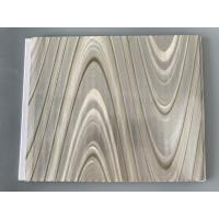Study Ceiling Laminated Plywood Wall Panels , Wood Grain Laminate Sheets Wave Design
