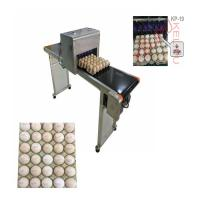 Buy cheap Poultry Husbandry Egg Inkjet Marking Machine With 1mm - 9mm Printing Word Height product