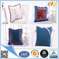 Quality Red / White / Blue Plain Modern Luxury Decorative Cushion Covers for Sofa , Car for sale