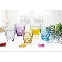 Buy cheap 6PC Drinking Glass Water Set Colored Gift Packing Stock 260ml Weight 195g product