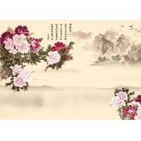 Buy cheap 9Mm Thickness Advanced Technology Bamboo Wood Boards Peony And Poems Landscape product