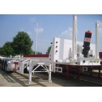 Buy cheap 3 Axles 40ft Tipping Skeleton Semi Trailer Chassis For Container Dump Discharge product