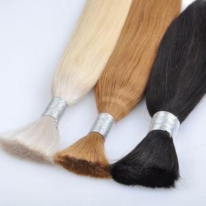 Buy cheap Customized Color Bulk Human Hair Extensions , Glossy 100% Human Loose Bulk Hair product