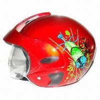 Buy cheap Children's half face safety helmet with anti-scratch PC visor product
