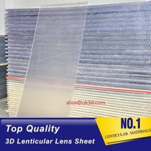 Buy cheap OK3D sell 70LPI PET 0.9MM 60X80CM Lenticular Plastic lens for 3d lenticular printing by injekt print and UV offset print product