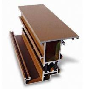 Buy cheap Mill Finish Aluminum Curtain Wall Profile Bronze / Black Energy Saving product