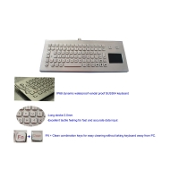 Buy cheap IP68 USB Metal Industrial Keyboard with Ruggedized Touchpad for Coal Mine product