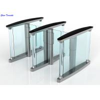 Buy cheap RFID Card Security Entrance Speed Gates / Half Height Optical Turnstile Door product