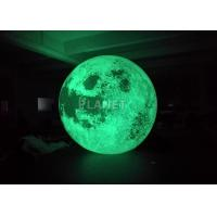 Buy cheap Colorful Changing Large Inflatable Moon Ball 3m Dia Customized product