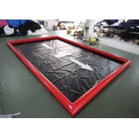 Buy cheap Red 0.9mm Pvc Tarpaulin Car Wash Water Containment product
