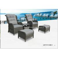 Buy cheap Adjustable Outdoor Lounge Chairs , Rattan Garden Chairs With Cushion product