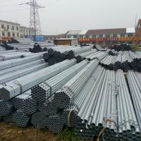 Buy cheap Diameter 12 - 508mm Pre - Galvanized Steel Pipe / Round GI Pipe ASTM A53 Hot Dipped Steel Pipe product
