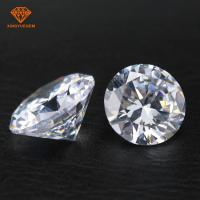 Buy cheap Wholesale 3A 5A round shape white color Cubic Zirconia CZ for jewelry diamond product