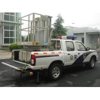 Buy cheap Hydraulic Aluminium Alloy Trailer Man Lift , Double Mast Trailer Mounted Boom Lift product