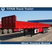 China 3*15 Tons 2 axles , 3 axles 40 foot flatbed semi trailer for cement bags , container on sale