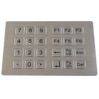 Buy cheap Stainless steel metal keypad for kiosk product