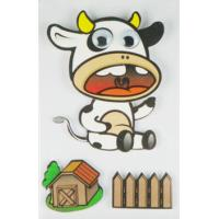 Buy cheap Cow Design Kids Scrapbook Stickers , Custom Die Cut Stickers 1.0 Mm Thin product