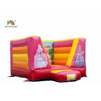 Buy cheap OEM 0.55mm PVC Princess Inflatable Bounce Castle With Blower For Child from wholesalers