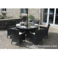 Buy cheap Household Outdoor Furniture Dining Set for Garden With Parasol Hole , Dining Tables and Chairs product