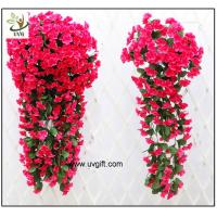 UVG artificial flowers wholesale hanging silk violet wreath for wedding flower arrangements WIS017