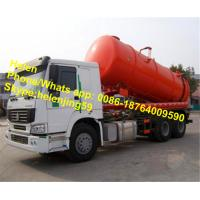 Buy cheap 15000L/15m3 Sinotruk Howo EuroII Sewage Pump Truck Vacuum Truck from wholesalers