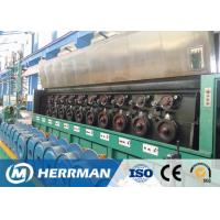 Quality Al Alloy Wire / Copper Rod Drawing Machine With Dual Bobbin Take Up High Potency for sale