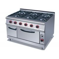Buy cheap Commercial Cooking Lines , Free Standing 4 / 6 American Burners Gas Range With Oven product