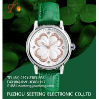 Buy cheap Four-leaved clover on the dial Lucky watch wrist ladies' fashion watch from wholesalers