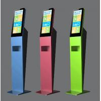 Quality Slim Floor Standing Kiosk Anti Covid 19 Support Wireless Access And LAN Access for sale