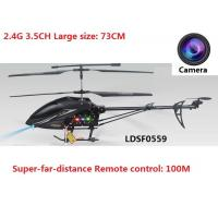 China Super-far-distance remote control:100M,2.4G 3.5CH Large RC heli with Gyro and camera on sale