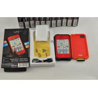 Buy cheap Red Shock Proof Waterproof Cell Phone Case Protective For Iphone 4 product