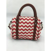 Buy cheap Simple Design Red Wavy Canvas Mummy Bag Canvas Diaper Bag With Outside Pockets product