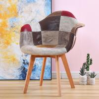 Buy cheap Modern Hotel Room Furniture Bent Wood Dinning Wedding Chair Patchwork Fabric Cover Beech Wood Legs product