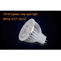 China Dimmable MR16 3 * 1W  LED Spotlight Bulbs With Epistar , Warm White LED Light on sale