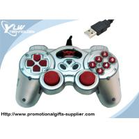 Buy cheap Dual shock silver / black USB  Game Controllers gamepad with 12 fire buttons product