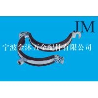Buy cheap Compact Rubber Insulated Metal Clamps , Heavy Duty Zinc Galvanized Steel Pipe Clamps product