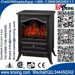 Buy cheap electric FIREPLACE heater antique stove log burning flame ND-18D2P chimenea Sentik Milton Estufa best price room heater product